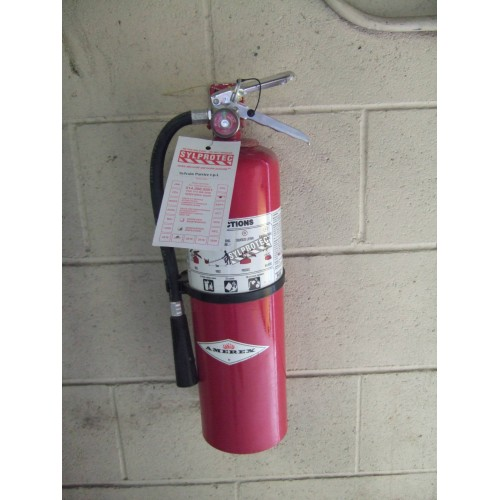 Wall hanger brackets for Amerex brand 10 lb dry chemical portable fire extinguishers