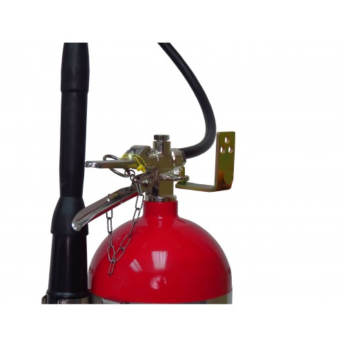 Wall hanger brackets for Flag 15-20 lb CO2, dry chemical, and 2.5 gal water portable fire extinguishers
