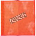Drapeaux haute visibilité en maille de nylon orange fluo, 18 po X 18 po, sans oeillets.