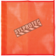 Drapeaux haute visibilité en maille de nylon orange fluo,18 po X 18 po, sans oeillets.
