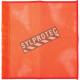 Hi-viz orange nylon traffic flags with dowel sleeve, 18 inches X 18 inches.