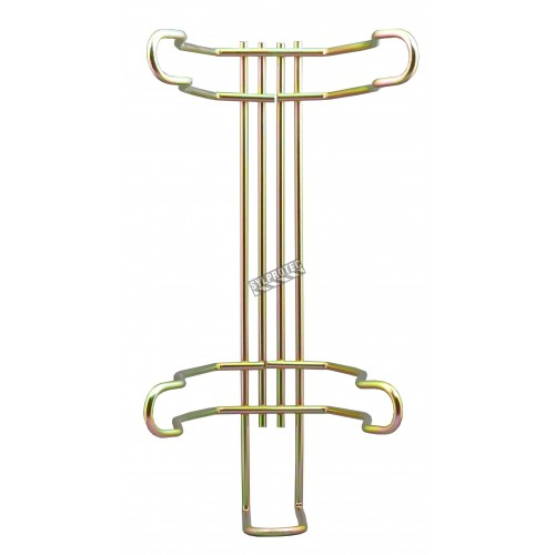 Universal vehicle bracket for 5 lb portable fire extinguishers with 4 ½ inches in diameter