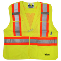 High-visibility yellow safety vest, 4 sizes, class 2 level 2, 4 pockets.