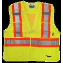 Veste de circulation jaune fluo, 4 grandeurs, classe 2 niveau 2, 4 poches.