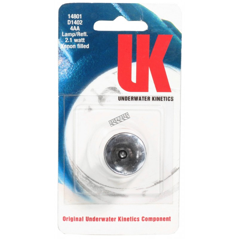 Replacement xenon lamp & reflector assembly for UK4AA-AS2 certified anti-explosion flashlight.
