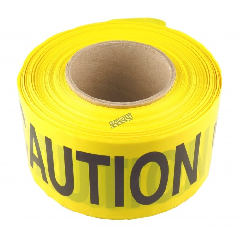 Yellow barricade tape, CAUTION, 3 in X 1000 ft.