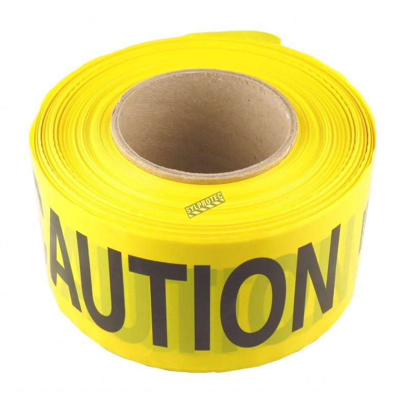 Ruban à barricade jaune, CAUTION, 3 po X 1000 pi.