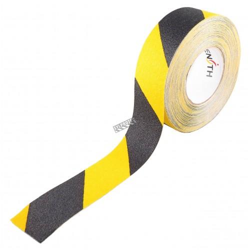 Ruban d'avertissement jaune et noir antidérapant et autocollant, 2 pouces X 60 pi.