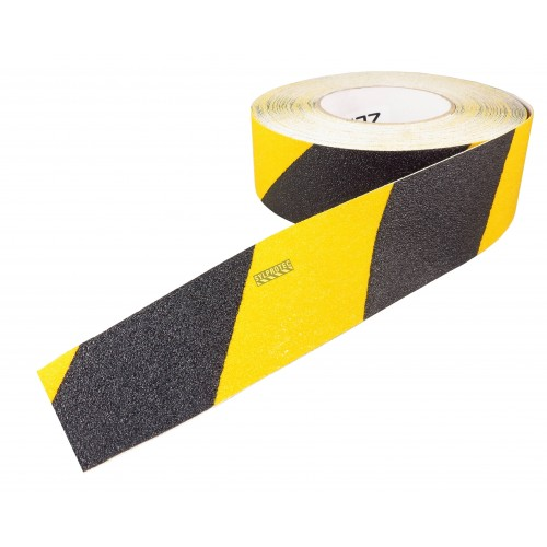 Warning yellow and black non-slip self adhesive tape, 2 inches X 60 ft.