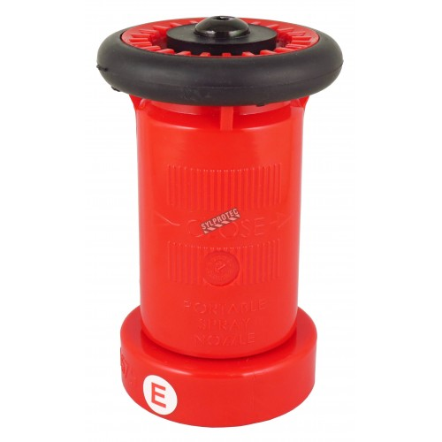 ULC Fire hose adjustable nozzle of 1.5 in diameter
