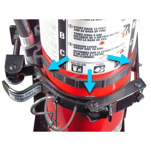 Coussinet extra-durable en caoutchouc pour crochets de véhicule pour extincteurs