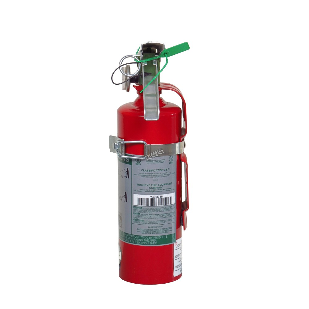 Portable Fire Suppression Equipment : Halotron i fire extinguisher lbs class bc ulc