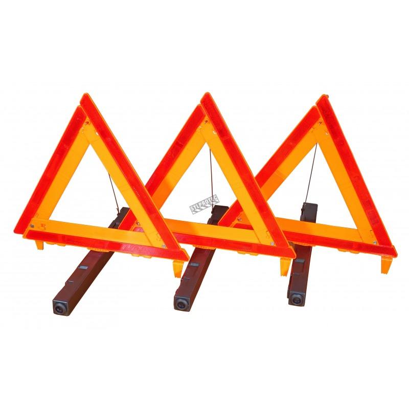 Ensemble de 3 réflecteurs amovibles. Comprend un étui de rangement. Couleur orange.