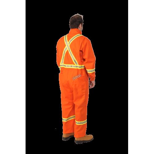 Orange  coverall 7 oz. FR 9.2 cal/cm2, made by Viking