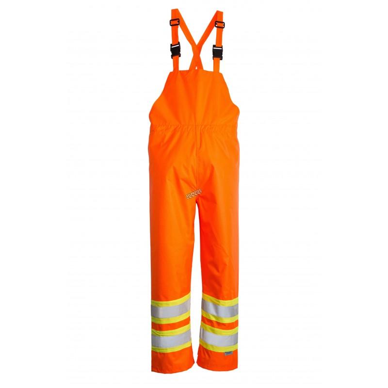 pantalon open road orange fluo avec bandes argent es. Black Bedroom Furniture Sets. Home Design Ideas