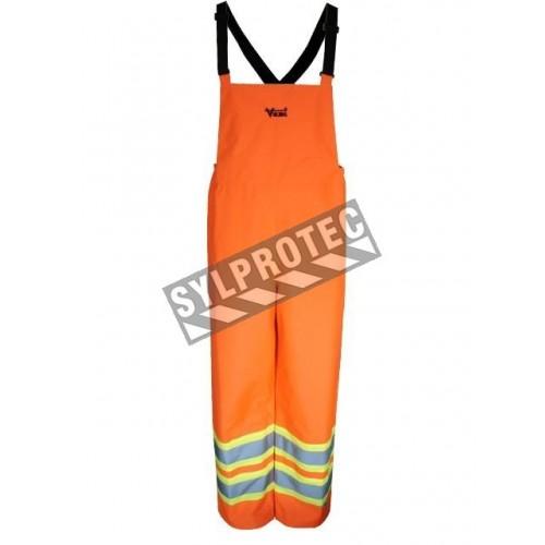 Pantalon pour conditions extrêmes Handyman 300D orange haute visibilité, bandes argent et jaunes, conforme à la CSA (S à 3XL)