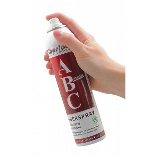 Produit Fiberspray en aérosol servant d'agent encapsulant temporaire ou permanent pour petites surfaces. 8 oz.