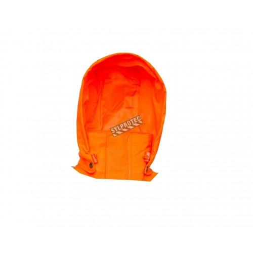 Hi-Viz orange removable hood for Viking Professional® Journeyman 300D raincoat. Sold separately