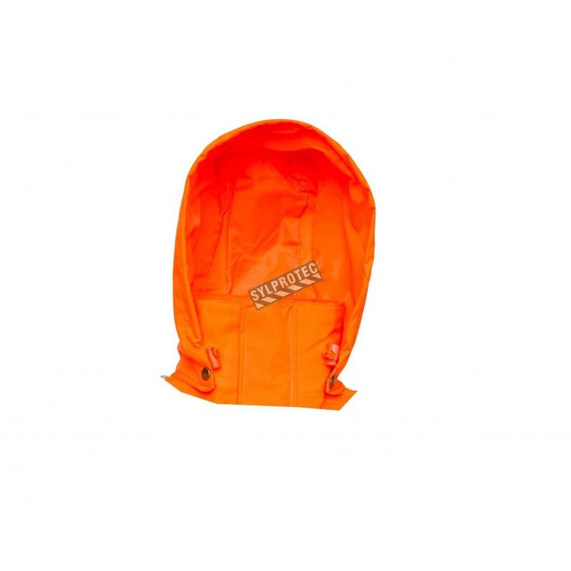 Capuchon orange haute visibilité vendu à part pour manteau imperméable Viking Professional Journeyman 300D