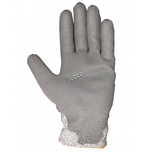 Gant Superior Touch® gris en Dyneema enduit de PU. Indice ASTM/ANSI de résistance à la perforation 3 & à la coupure A2.