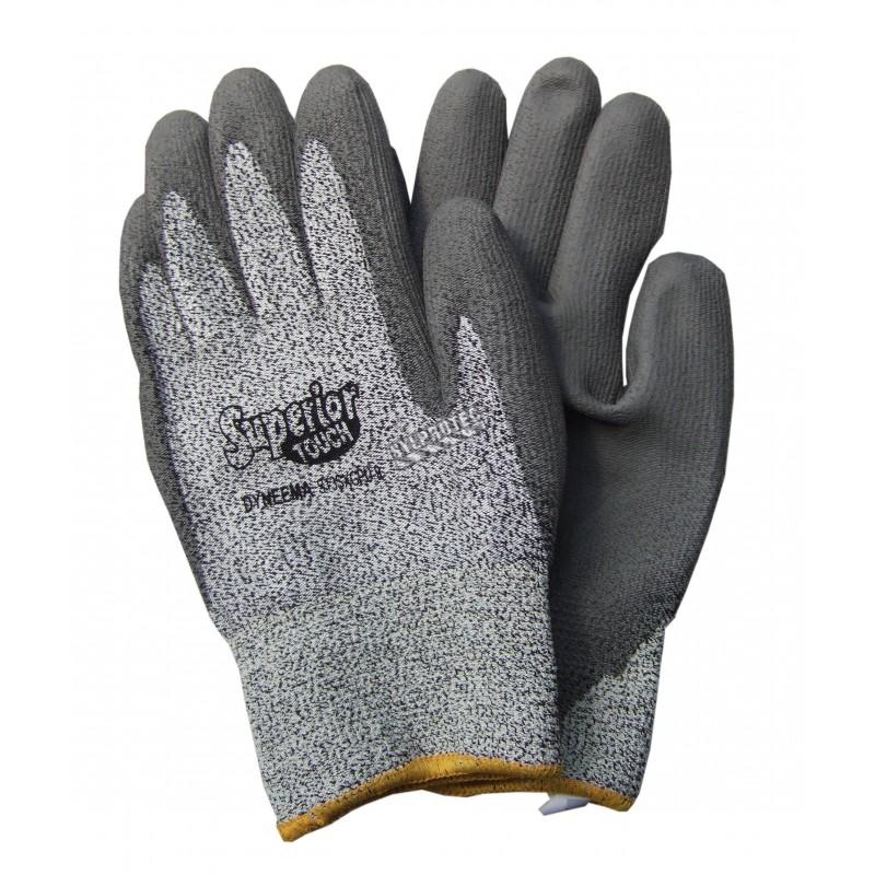 Gant Superior Touch® en tricot de Dyneema enduit de PU. Indice ASTM/ANSI de résistance à la perforation 3 & à la coupure 2.