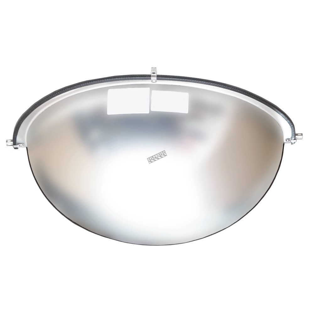 Acrylic half dome convex mirror for 180 view in a t for Convex mirror