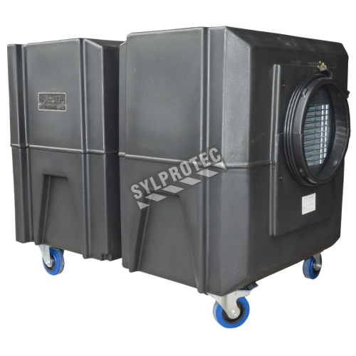 BULLDOG portable air scrubber with speed variation from 600 to 1800 cfm. Ideal for asbestos abatement & decontamination workzone