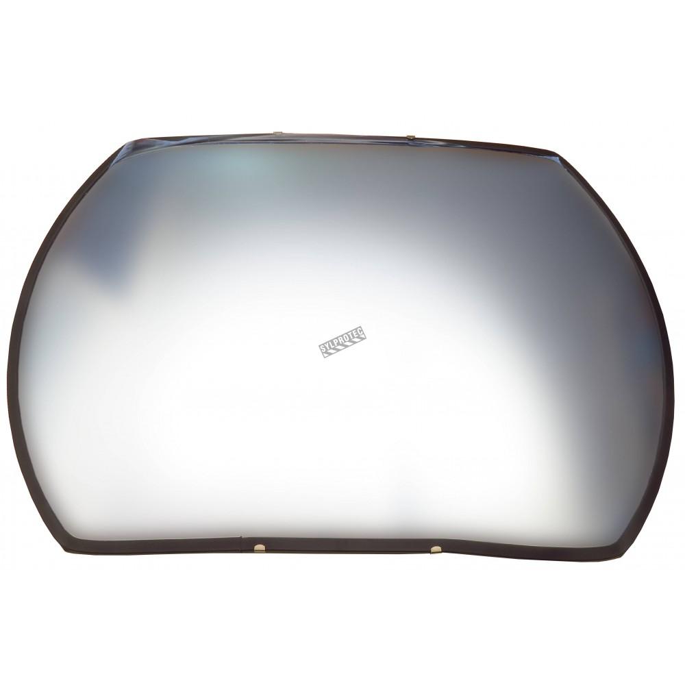 Acrylic Rectangular Convex Mirror With Adjustable Arm 160