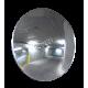 Miroir convexe circulaire sur bras ajustable, en acrylique, à champ de vue de 100 degrés.