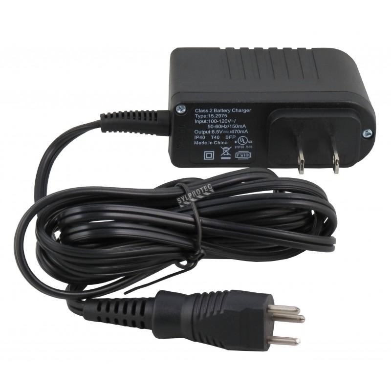 Chargeur intelligent de batterie à basse tension (4.8 volts) à sécurité intrinsèque pour le système PAPR Powerflow de 3M.