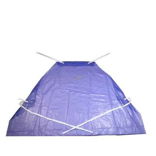 Tablier économique en PVC bleu, 35 po X 45 po, épaisseur 5 mils. Vendu à la douzaine.