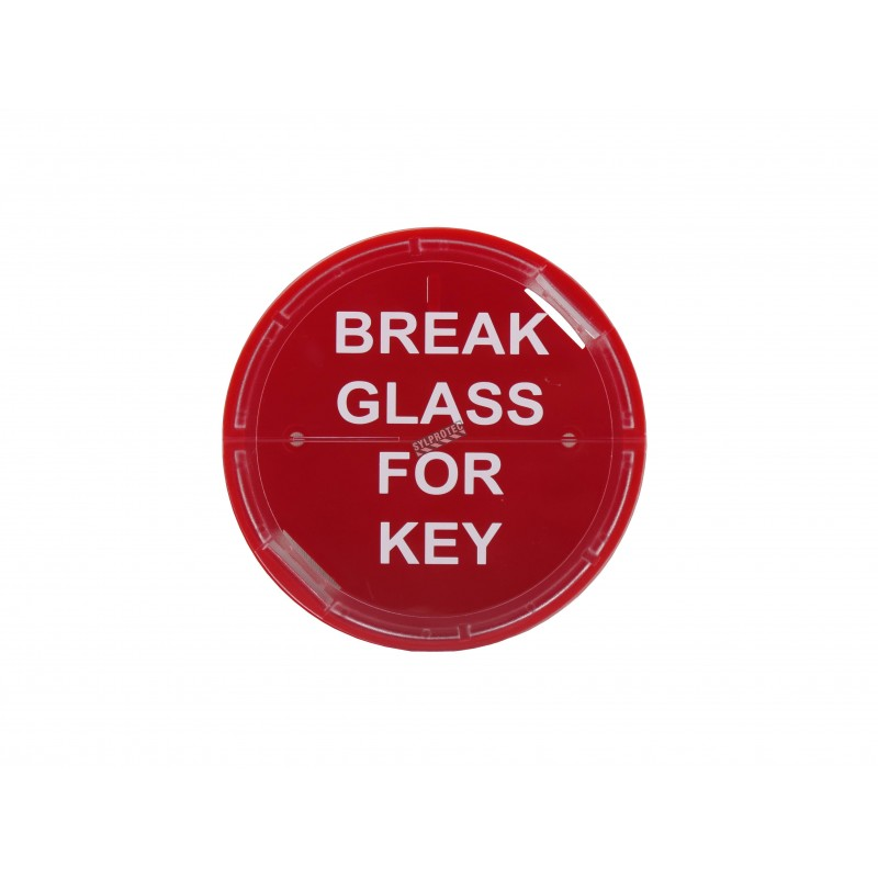 Emergency key box for fire cabinet