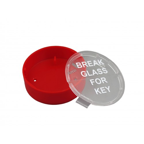 Emergency key box for fire cabinet