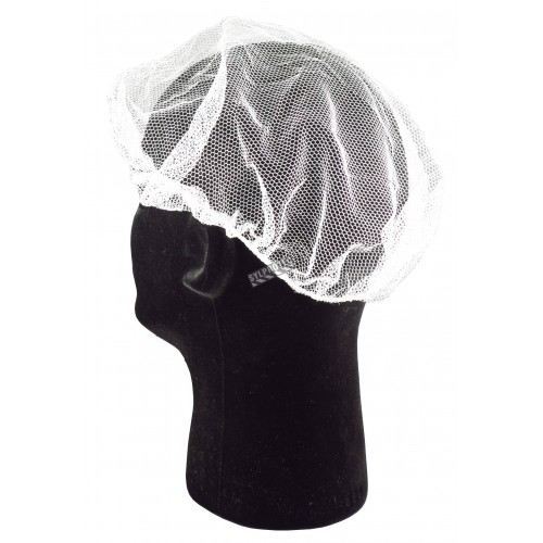White nylon tight mesh hair net  , pq/100