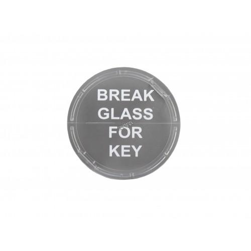 Vitre de remplacement pour boîte de clés d'urgence