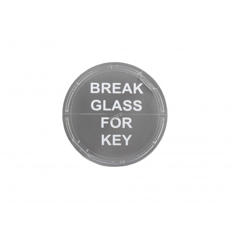Replacement glass panel for emergency key box