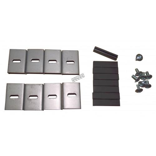 Cabinet encastré pour extincteurs à poudre de 10 lbs, pré-peint en gris.