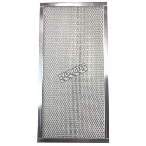"""Filtre HEPA pour enceinte de confinement HEPA ZONE 24. Filtre 24""""x12""""x3"""" pour particules de 0,3 µm et plus."""