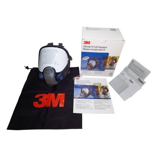 Masque complet de protection respiratoire Ultimate FX de 3M. Homologué NIOSH. Cartouche et filtre non-inclus. Moyen.