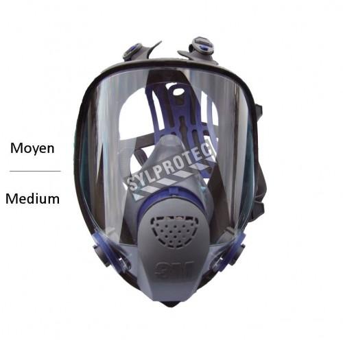 Masque complet de protection respiratoire Ultimate FX de 3M. Homologué NIOSH & CSA Z94.4. Cartouche & filtre non-inclus. Moyen.