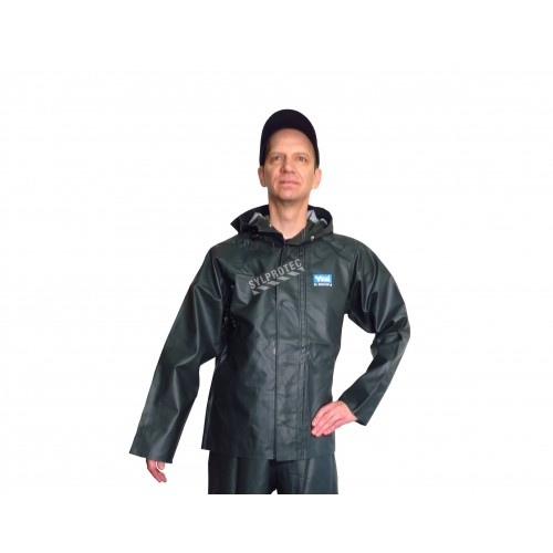 Green PVC-lined Viking Journeyman® waterproof PVC-lined polyester raincoat for extreme conditions (S to 3XL)