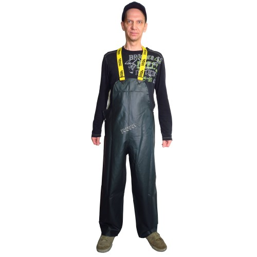 Green PVC-lined Viking Journeyman® waterproof PVC-lined polyester rain pants for extreme conditions (S to 3XL)
