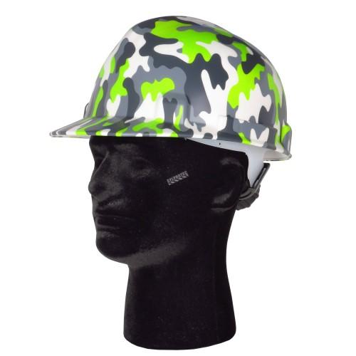 Casque de sécurité avec motif camouflage moderne, CSA type 1 classe E, coiffe à 4 points d'attache. Vendu à l'unité.