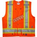 Economical high-visibility orange surveyor vest with 11 pockets CSA Z96-15 class 2 level 2