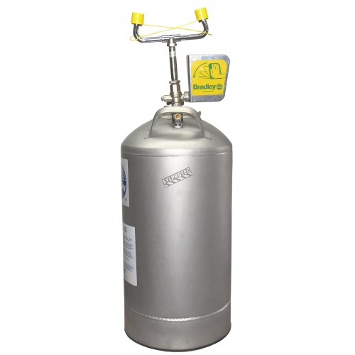 Douche oculaire portative avec réservoir sous pression 10 gallons (37.9 L), approuvée ANSI Z358.1-2009.