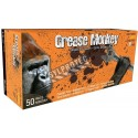 Grease Monkey 15 mil powder-free blue latex disposable gloves, CFIA approved. Sizes M (8) to XXL (11). 50 gloves/box.