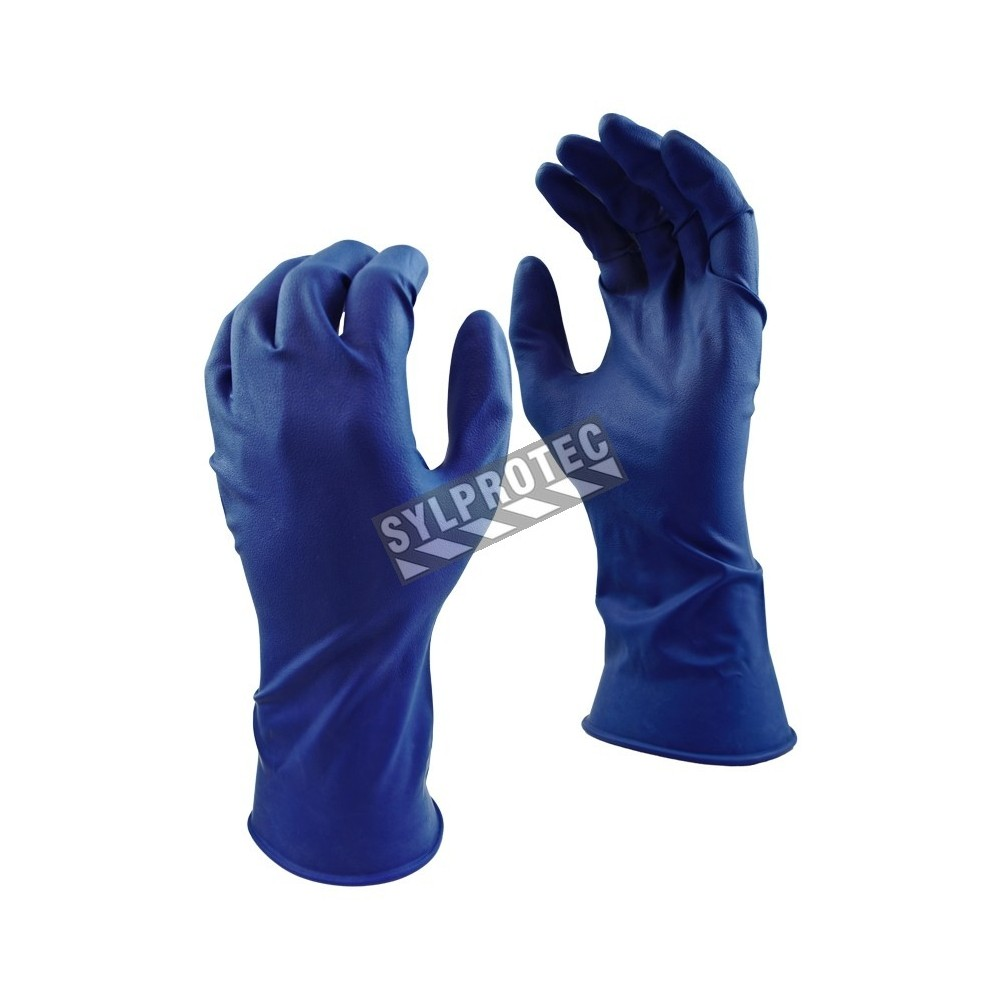 Sizes · Grease Monkey 15 mil powder-free blue latex disposable gloves, CFIA  approved. Sizes