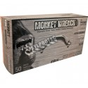 Monkey Wrench 6 mil powder-free orange nitrile disposable gloves. Sizes M (8) to XXL (11). 50 gloves/box.