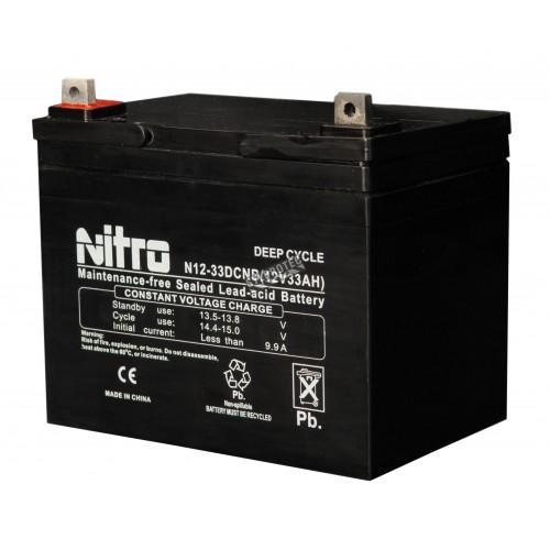 Batterie 12 volts 33 amperes pour unitée d`éclairage