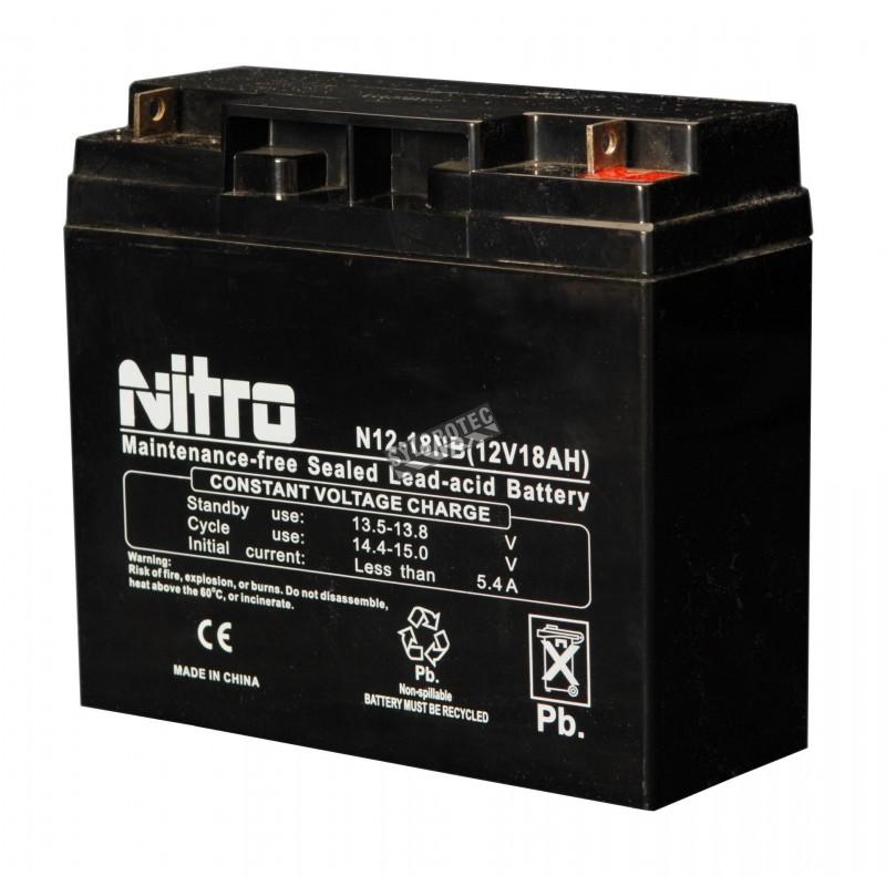 Batterie 12 V 18 Ah 216 W pour unité d'éclairage d'urgence
